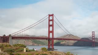 Golden Gate Bridge in San Francisco Time Lapse