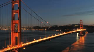 Golden Gate Bridge Sunset Lights TL