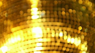 Golden Shining Disco Ball