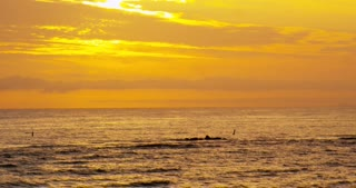 Golden Sunset off Southern California Coast