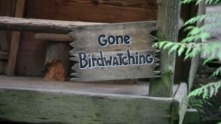 Gone birdwatching sign