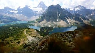 Gorgeous Canadian Rocky Mountain Landscape Banff and Mount Assiniboine