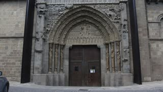 Gothic Arches Over Door