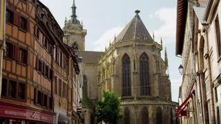Gothic Building on Colmar, France Street