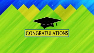 Graduation Cap Video. Congratulations For Accomplishments