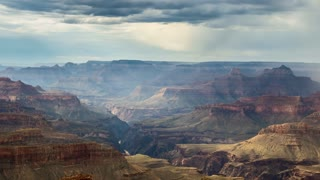 Grand Canyon Rain and Clouds Timelapse