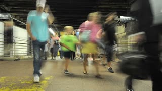 Grand Central Commute Foot Traffic Timelapse