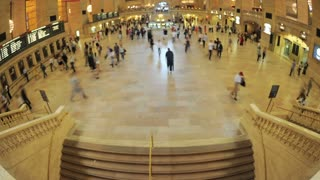 Grand Central Fisheye View Timelapse
