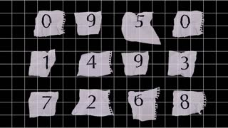 Graph Paper Numbers