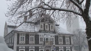 Gray Building in Snow Storm 2