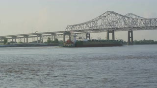 Greater New Orleans Bridge From Shore