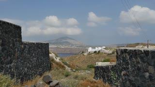 Greece Santorini view toward coast