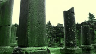 Green Ancient Synagogue Ruins 3