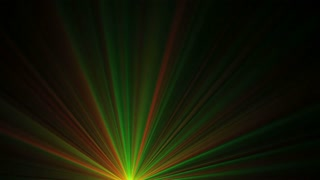 Green and Red Laser Mix Rays