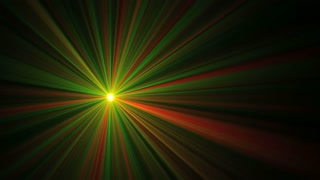 Green and Red Laser Mix
