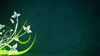 Green and White Flourishes and Flowers 2