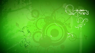 Green and White Flourishes and Flowers
