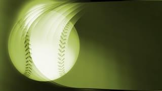 Green Baseball Banner