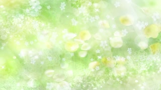 Green Flowers - Abstract Wedding Background 03