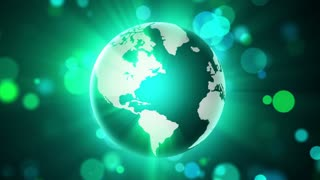 Green Globe and Lights