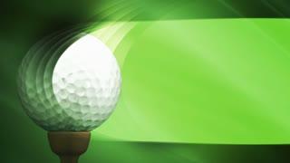 Green Golf Banner