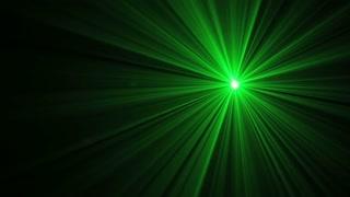 Green Laser Swirl