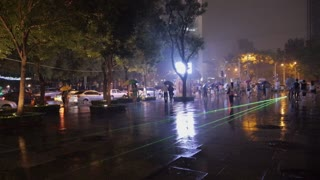 Green Lasers on Beijing Street