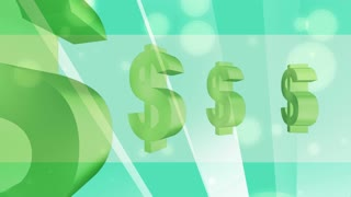 Green Ray Dollar Sign