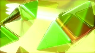 Green Triangles & Yellow Cubes Spinning