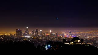 Griffith Observatory and Downtown Los Angeles Timelapse