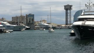 Group of Boats in Barcelona Harbor 2
