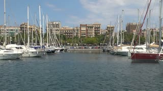 Group of Boats in Barcelona Harbor 3
