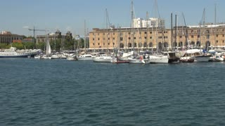 Group of Boats in Barcelona Harbor 4