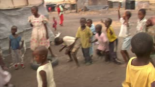 Group of Kids Laughing and Playing in Kenya