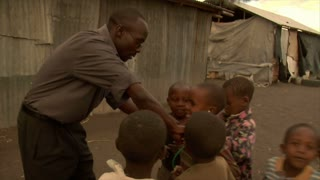 Group of Kids Playing Doctor in Kenya
