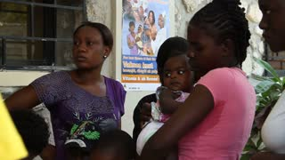 Haitian Mothers With Children