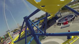 Hanging Coaster Twists and Turns POV