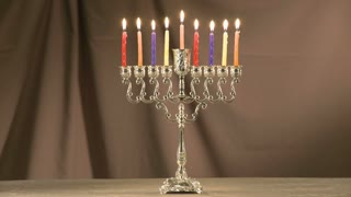 Menorah, Jewish symbol for Hanukkah festival of lights