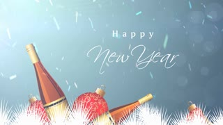 Happy New Year Champagne Background