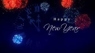 happy new year fireworks motion background storyblocks video