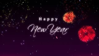 happy new year purple motion background storyblocks video