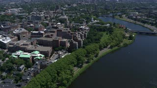 Harvard University And Charles River From The Air, Boston, Massachusetts