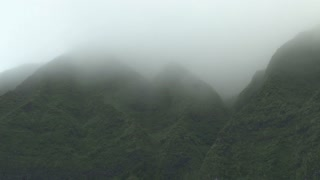 Hawaiian Mountains through Mist and Fog