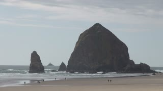 Haystack Rock on Oregon Cannon Beach