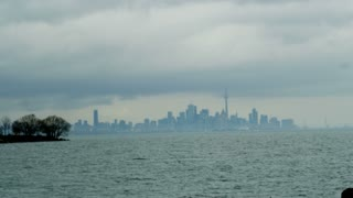 Hazy Downtown Toronto Skyline