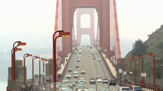 Hazy Golden Gate Bridge Traffic