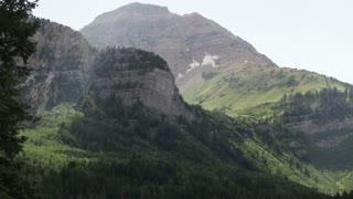 Hazy Rocky Mountainsides
