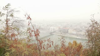Hazy View Of Budapest