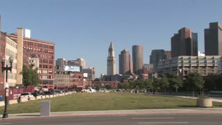 HD Boston Boston Financial Skyline