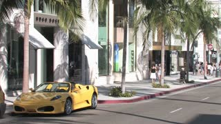 HD Los Angeles Rodeo Drive Ferrari